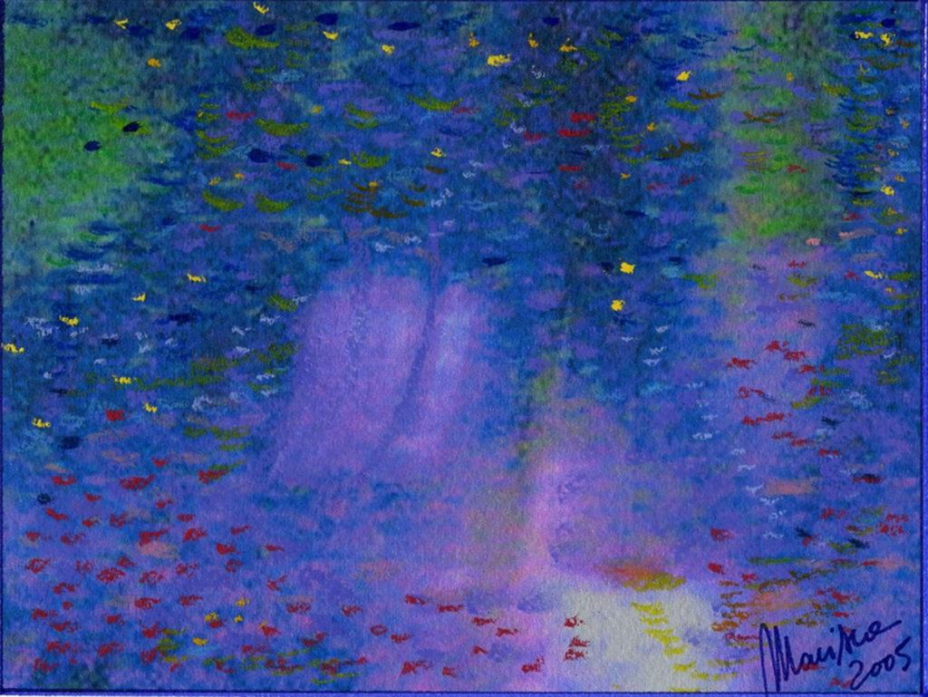 maria luisa caputo, Vento di Marzo, 19 x 14 cm, opera mediale a tecnica mista su carta cotonata, 2005